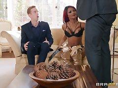 redhead ungentlemanly Kiki Minaj gets fucked by hard bushwa while she moans