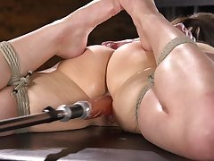 Beautiful Kenzi Ryans spreads her legs for two outstanding sex toys