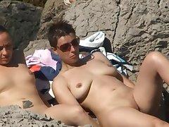 Horny Column At Nude Beach Spycam Voyeur
