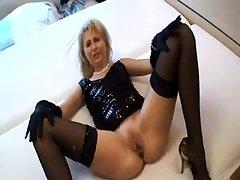British matured stockings unskilful sucks on hard cock