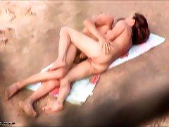 Beach sex Voyeur hot fuck 4