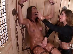 The pain and wonder are favorite coitus mix for a lesbian Cathy Heaven