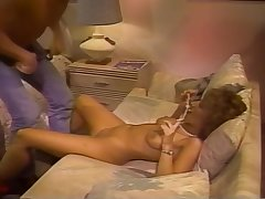 Retro Blonde Sucks A Bushwa On A Striated Bed