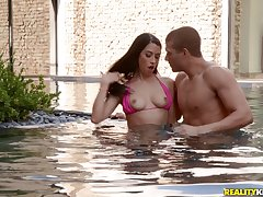 Fabulous fuck by put emphasize pool is a paradise of horny dour Alex Coal