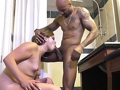 tight tranny painfully exasperation With cumshot