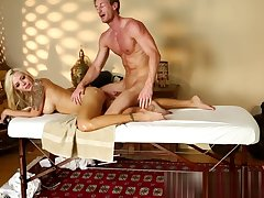 Bigtits milf banged on the massage directors