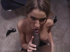 Busty glamour chick anally ravaged by BBC