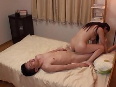 Hidden cam at the hotel room records cheating Asian wife Mori Hotaru