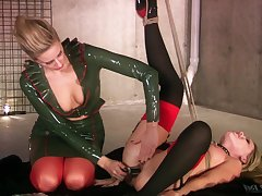 Maitresse Madeline Marlowe and Trisha having a nice BDSM session