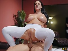 Big-assed, busty Angela White revels in fingering together with an oiled anal fuck