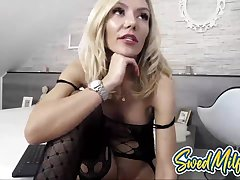 Swedish Maw Rubs Coochie and Moans on Cam