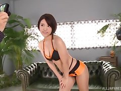 Hardcore fucking on the office sofa everywhere hot ass Hinata Mio