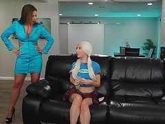 Dirty step family connection with Britney Amber and Kenzie Reeves
