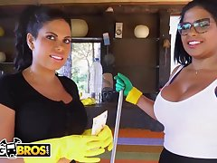 Brazilian maids, Sheila Ortega together with Kesha Ortega frequently get drilled engross doing their job