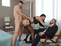 Jasmine Jae makes cuckold watch the brush get fucked by a ravenous lover