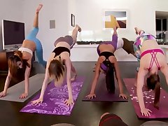 Sexy unclothed teens Hot Sneaky Yoga
