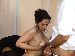 Shy amateur mature with stockings