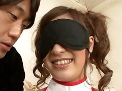 Smooth fucking on the siamoise with blindfolded wife Aki Asada