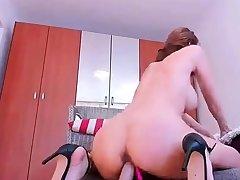 British blonde milf Jane Bond solitary masturbation
