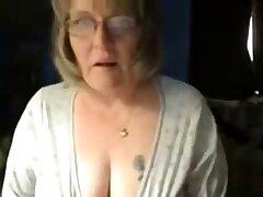 Dirty granny has fun more than web cam. Amateur older
