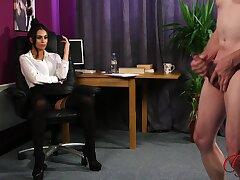 Amateur man takes off his clothes to masturbate for Sarah Owen