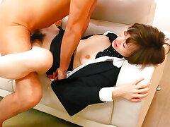 Rouhg hanker for cute office beauty Akina Hara