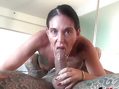 Inked babe Marie Bossette gets creampied