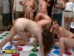 BANGBROS - College Party On every side Jennifer Dark, Diamond Kitty & Jada Stevens
