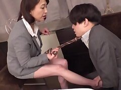 Horny MILF Tokita Kozue gets horny added to receives a locate in her energized puss