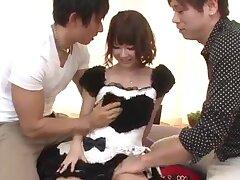 Yurika Miyachi, hot maid, fucked and made to swallow jizz