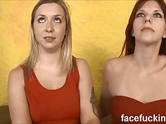 three way gonzo pecker inculcation for lesbos Zara & Annabel