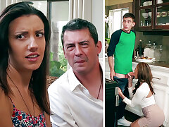 Super-Naughty Mommy deep throating bulky cadger sausage of daughter-in-law's BEAU