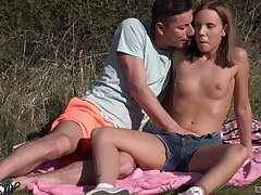 Outdoor foreplay & dicking with amazing Poppy Pleasure - HD