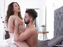 Charming babe Mickey Moor gets a mouthful be proper of sperm after passionate sex adjacent to the morning