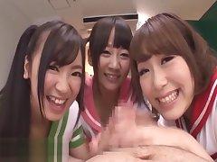 Japanese schoolgirls think the world of their teacher