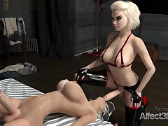 Lesbian futanari babes having sex while wearing vr headset