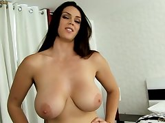 Unrefined dark-haired with fat funbags, Alison Tyler luvs to deep-throat meatpipe increased by attractiveness some new jizm