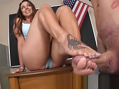 Foremost Raunchy SPYING - GODDESS FOOTJOBS
