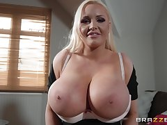 stupendous tits Jordan Pryce gets say no to cunt pounded by a guy's penis