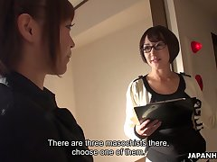 Cum-thirsty Japanese chick Yui Ayana gives her head and gets a mouthful be worthwhile for sperm